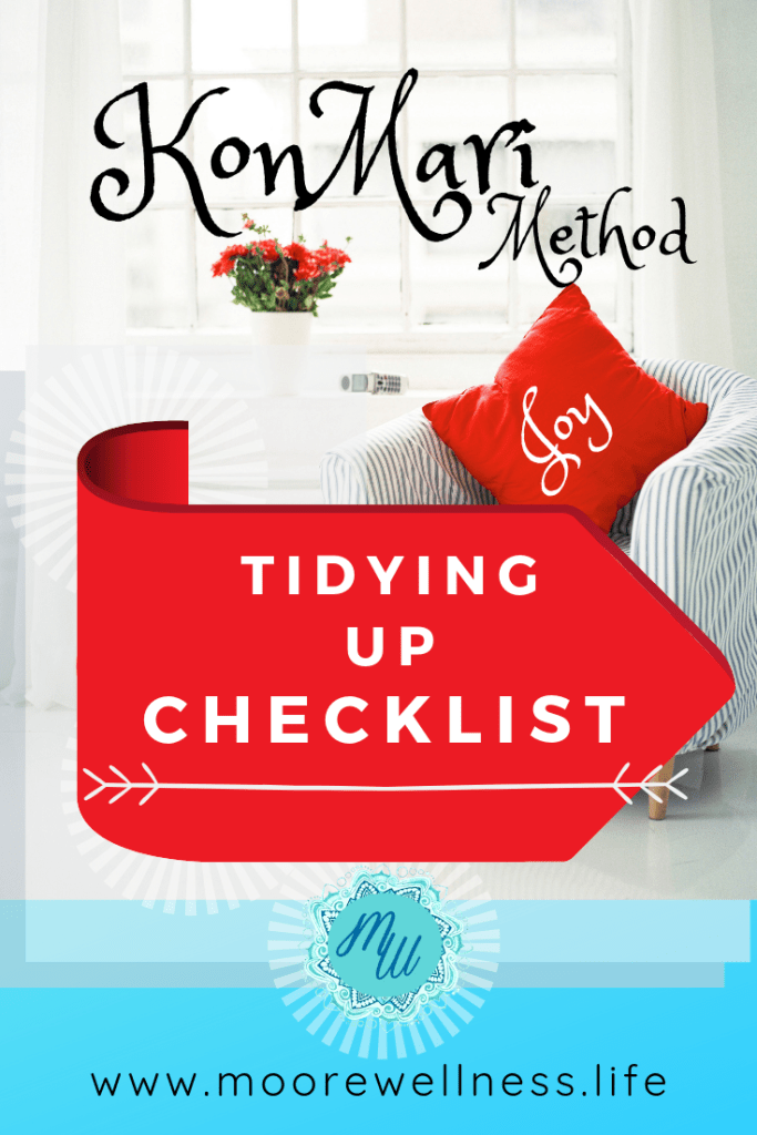KonMari Tidying Up CHECKLIST