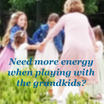 children holding hands in a circle with spring colored clothes on ... with tips about gain parents and grandparents gaining energy from www.moorewellness.life