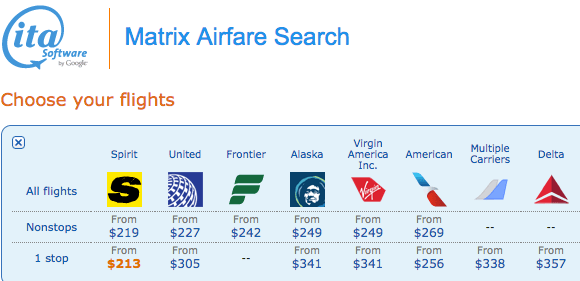 Travel Tools: Use ITA Matrix To Find Cheap Airfare