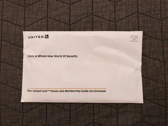 United MileagePlus Explorer Card Mailer