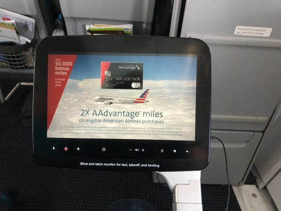 American Airlines A321S In-Flight Entertainment