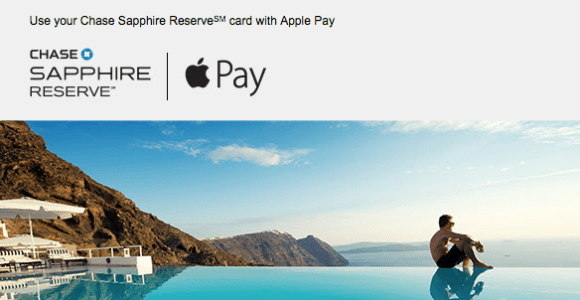 Earn 3X Ultimate Rewards Points With Apple Pay