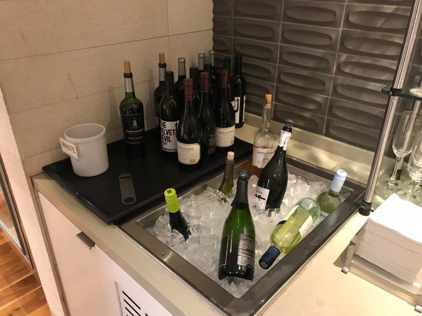 LAX Star Alliance Business Class Lounge Wine Station