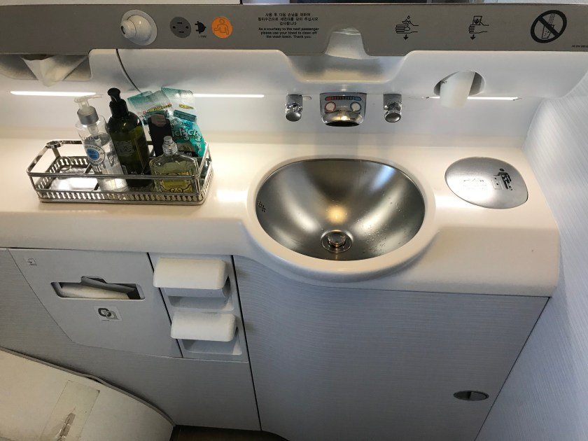 Asiana Airlines A380 Business Class 2nd Lavatory Amenities