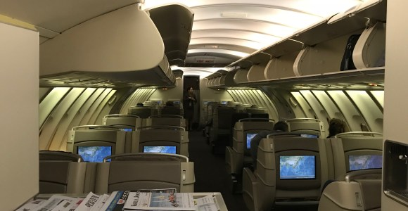 Review Asiana Airlines 747 4 Business Class Seoul To Ho
