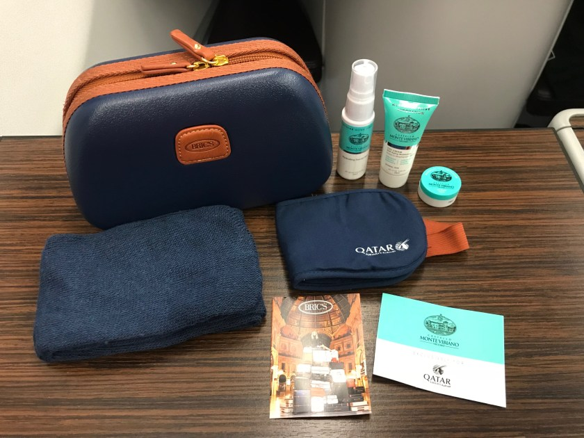 Qatar Airways A350 Business Class Bric's Amenity Kit Contents