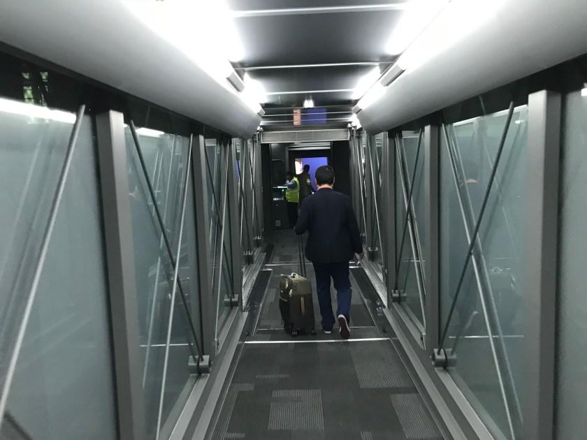 Qatar Airways A350 Business Class Jet Bridge