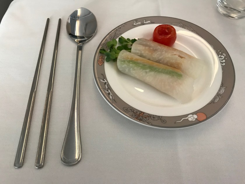 Asiana Airlines A380 Pickled Turnip Roll