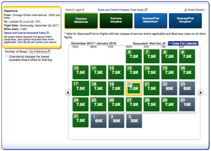 ORD-STL Saver Level Award Space