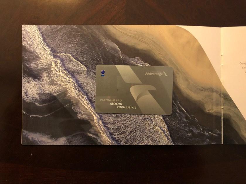 AAdvantage Platinum Pro Membership Card