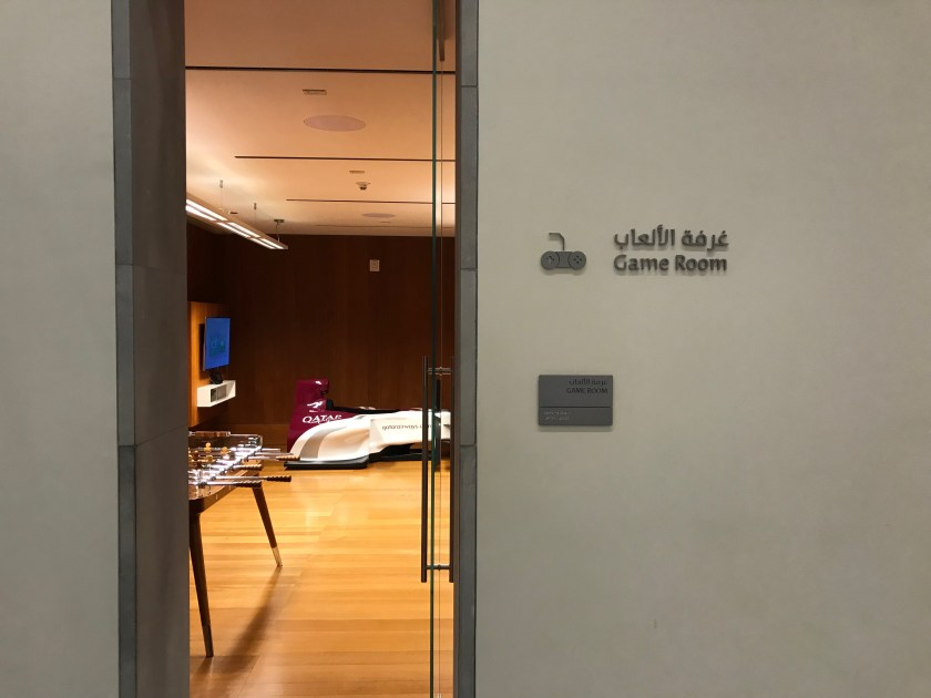 Al Mourjan Business Class Lounge Game Room Entrance