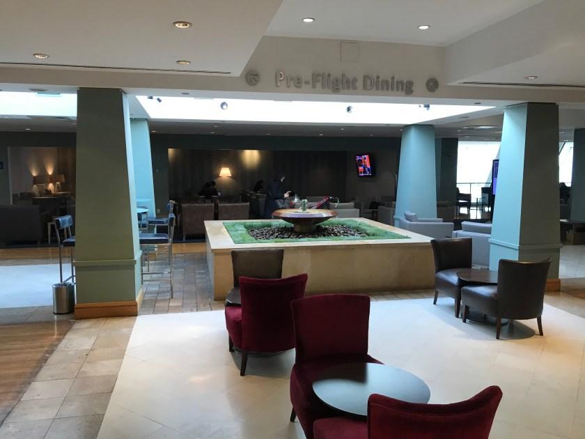 British Airways Galleries Lounge New York JFK Fountain