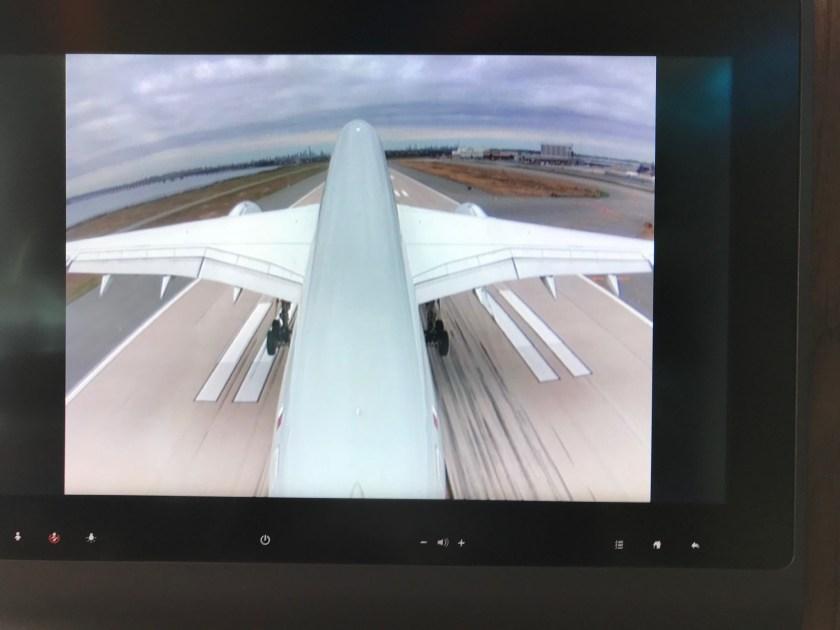 Qatar Airways A350 Business Class Tail Camera Takeoff