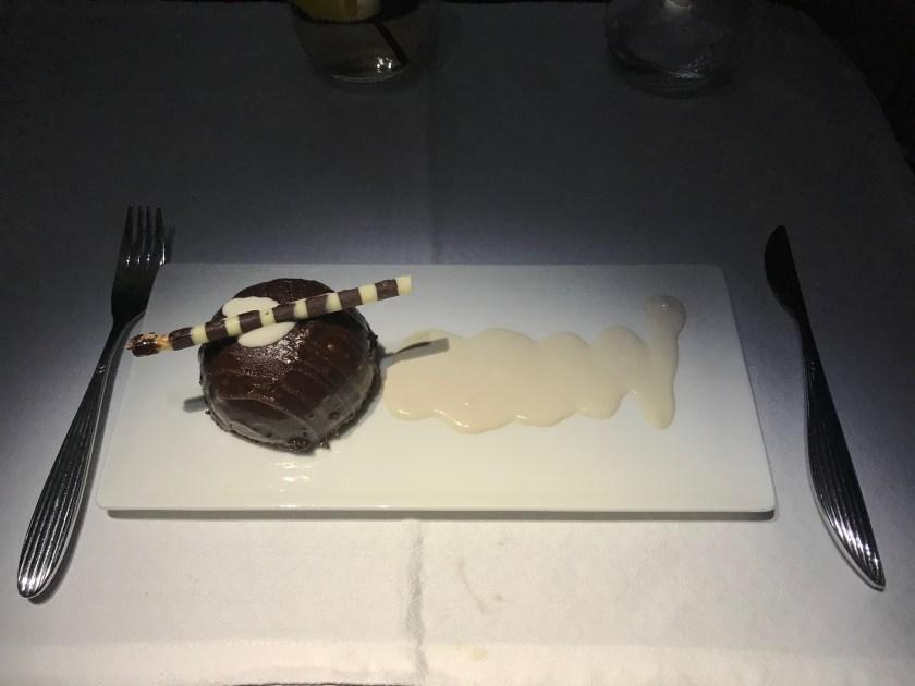 Qatar Airways A350 Business Class Dessert