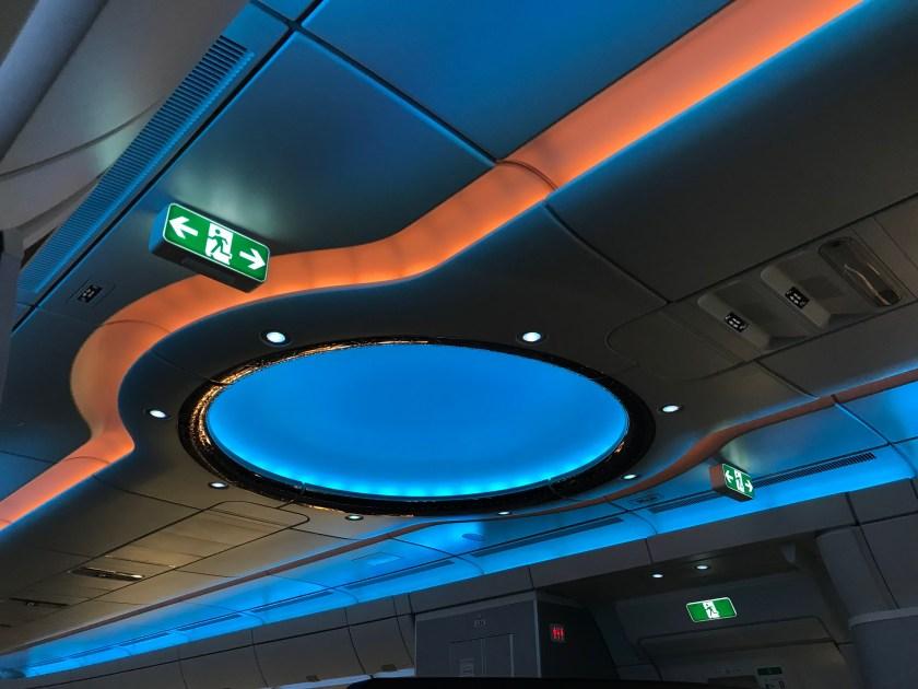 Qatar Airways A350 Business Class Dome Blue