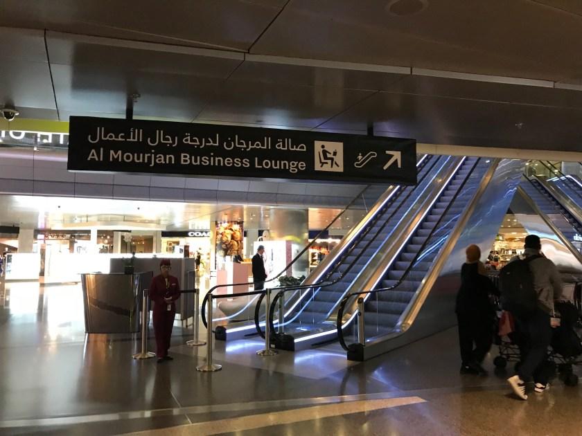 Al Mourjan Business Class Lounge Escalators