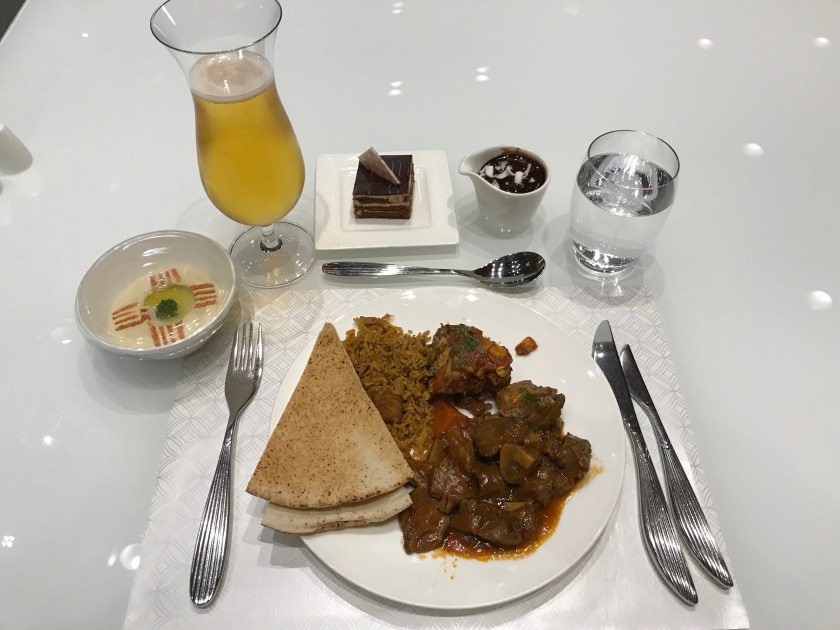 Al Mourjan Business Class Lounge Restaurant Dinner
