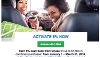 Activate The Chase Freedom 5% Q1 2018 Bonus Now