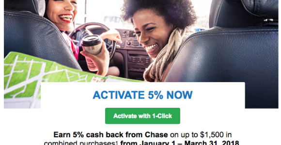 Activate The Chase Freedom 5% Q1 2018 Bonus Now