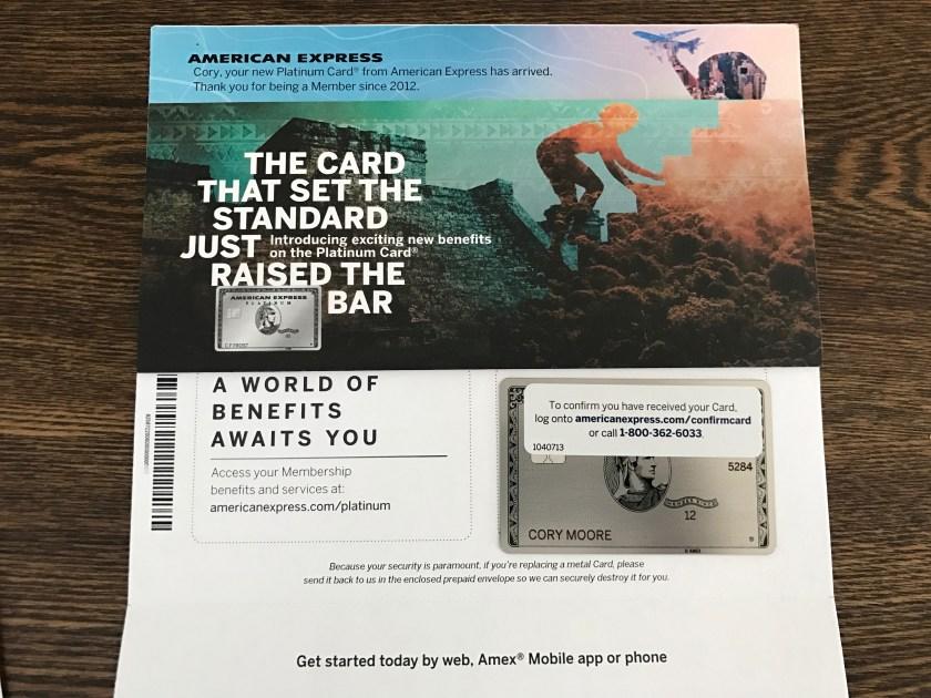 Metal American Express Platinum Card
