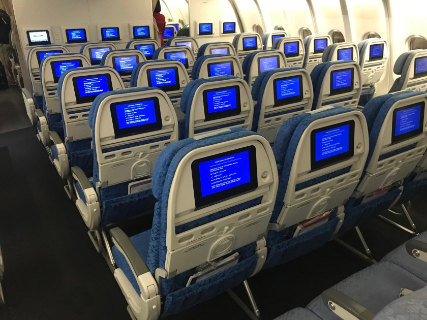 Cathay Pacific A330 Economy Class Cabin
