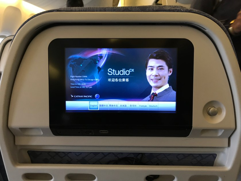 Cathay Pacific 777-300ER In-Flight Entertainment