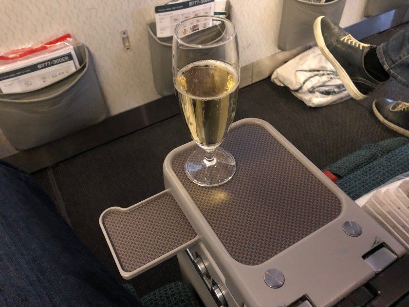 Cathay Pacific 777 Premium Economy Drink Tray Table