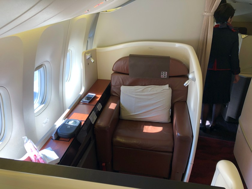 Review Japan Airlines First Class 77w New York To Tokyo Moore With Miles