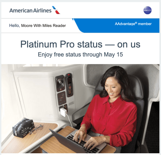 American Airlines Offering Free Elite Status To Some