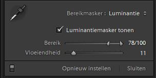 Werken met Lightroom Bereikmaskers