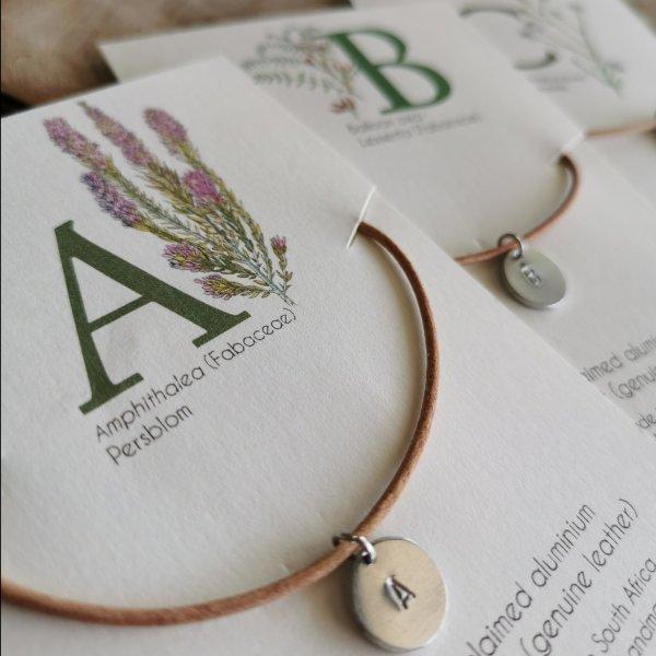 CoralBloom Handmade Jewelry Polished Aluminium Alphabet Pendants