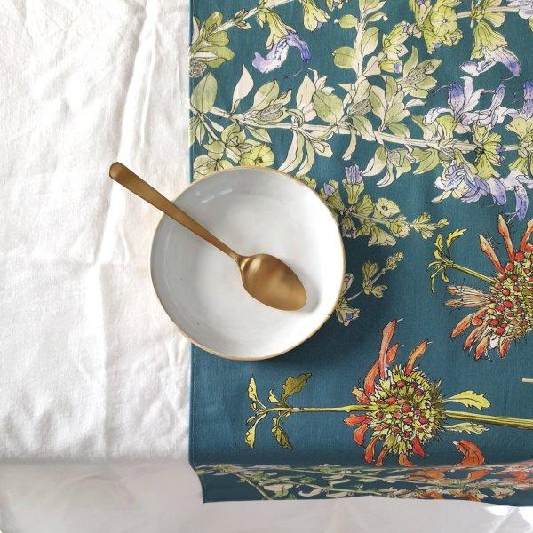 Salvia Cotton Table runner