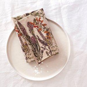 Hemp Napkins Set of Two Wild Fynbos Folded Plate