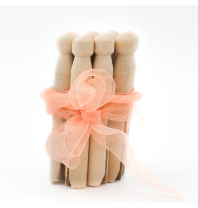 Traditional Wooden Dolly Pegs