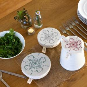 Halo Dish and Bowl Cover Small Set of 3 Utensils   Gabriele Jacobs