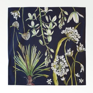 CoralBloom Greenery Napkins Cotton Set of Two Flat