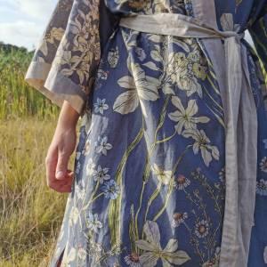 CoralBloom Kimono Purelinen Detail
