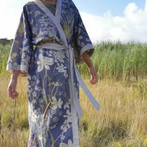 CoralBloom Kimono Purelinen Front View