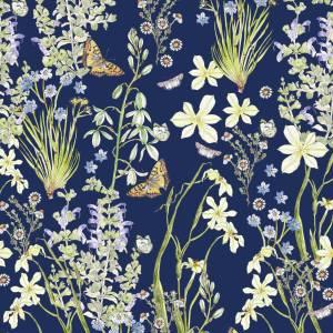 CoralBloom Kimono Purelinen Fynbos on Blue