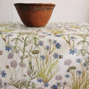 CoralBloom Tablecloth Cotton Tablesetting White Albuca