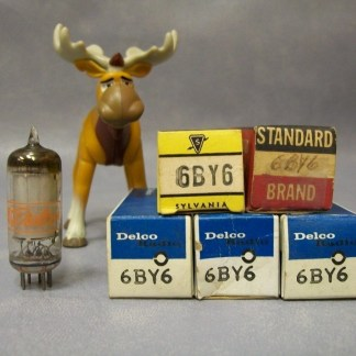 6BY6 Vacuum Tubes Lot of 5 Delco Standard Sylvania