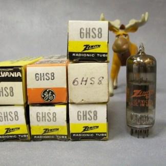 6HS8 Vacuum Tubes Lot of 7 Zenith / Sylvania / GE