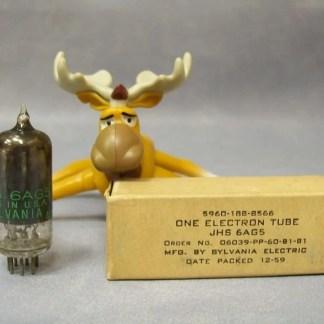 Sylvania JHS 6AG5 Vacuum Tube Military Packed 12/1959