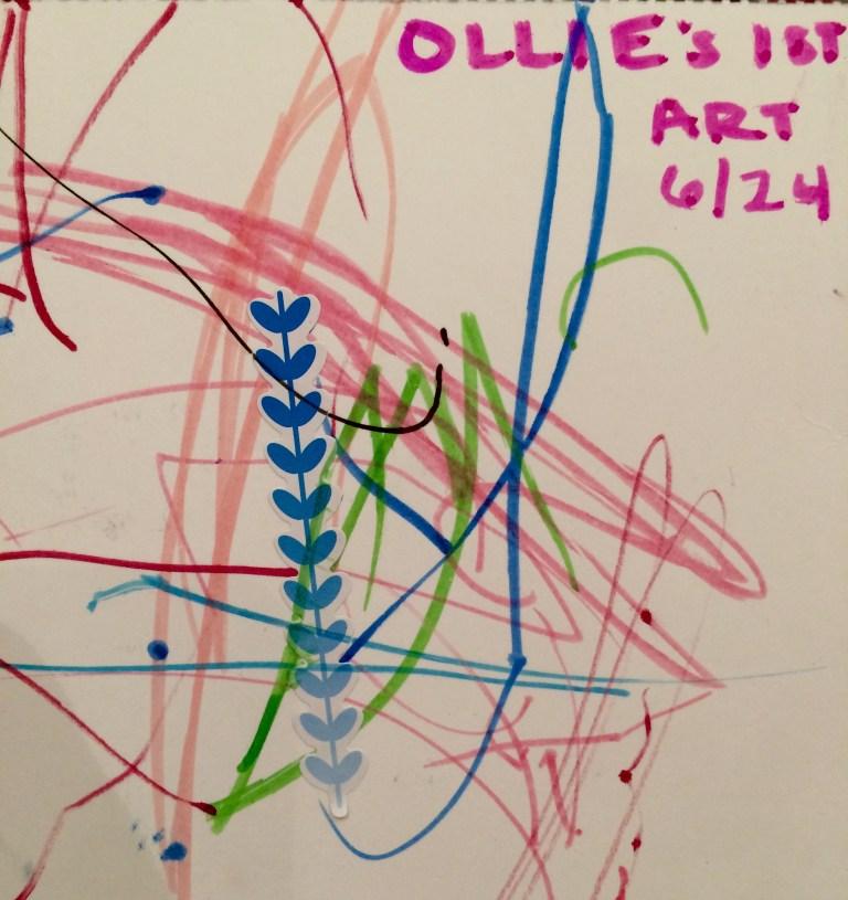 Ollie's First Art