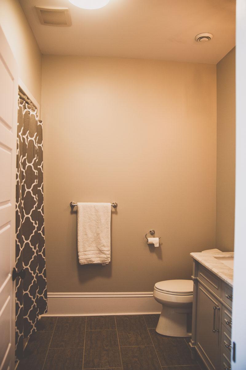 Ensuite bathroom in Summerfield custom home