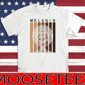 Melanin Shades Afro Queen Wordart Shirt