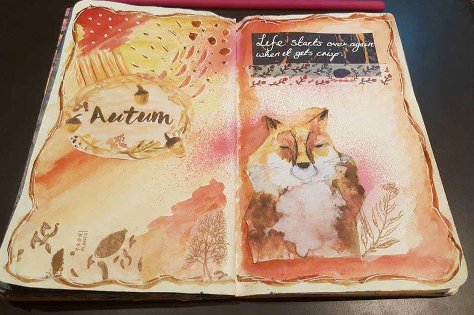 autumn-art-journal-page-kerrymay-makes