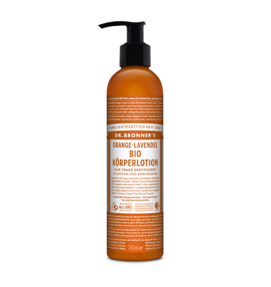 Dr. Bronner's Body Lotion Orange Lavendel