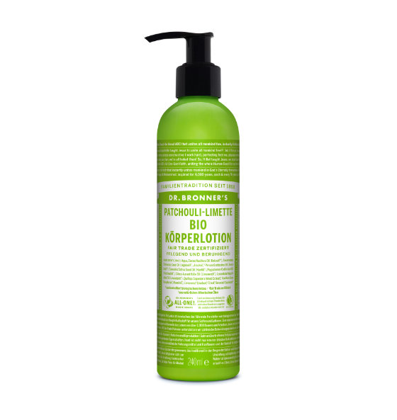 Dr. Bronner's Body Lotion Patchouli Limette