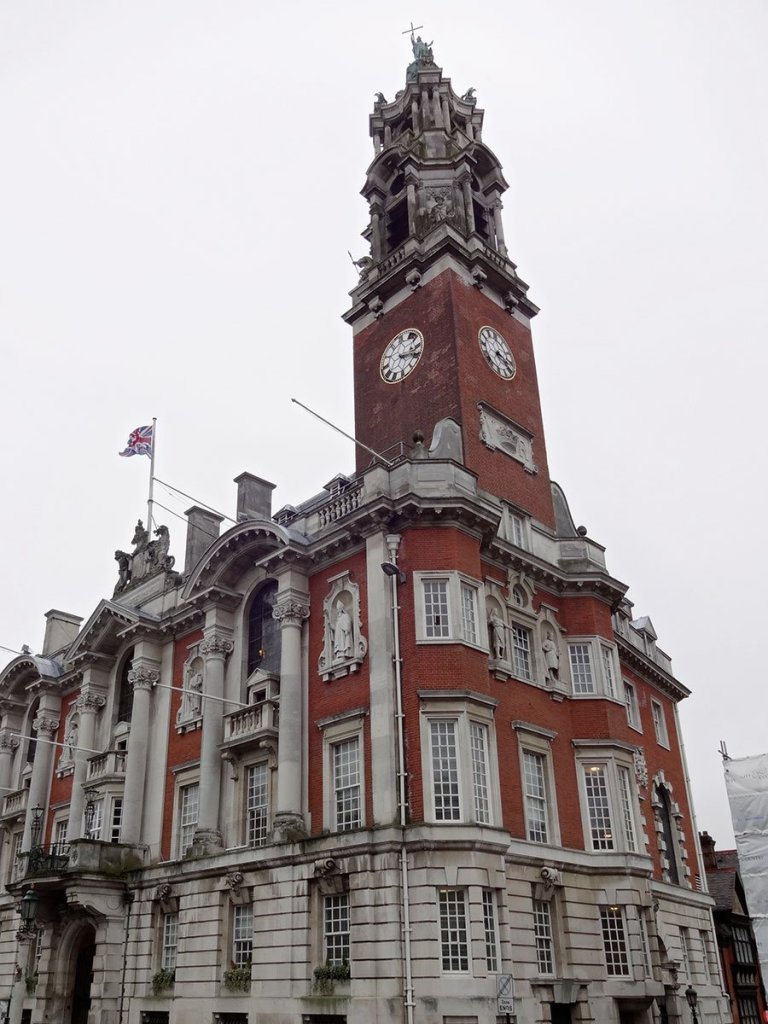Colchester Town Hall — impressive even on a grey day